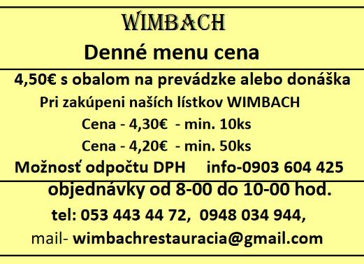 cena menu